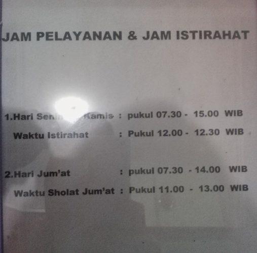 Jam Pelayanan Kecamatan Taman